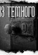 Дверь из тёмного дерева